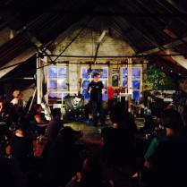 Lorcan McGrane and audience, LOFT, 2014